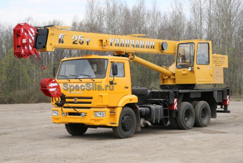 Аренда автокрана Галичанин 25 тонн 22 метра
