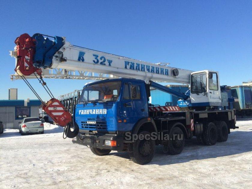Аренда автокрана Галичанин 32 тонны 30+9 метров