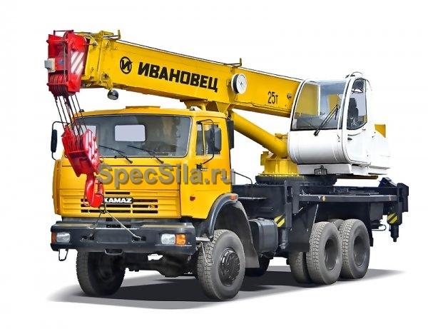 Аренда автокрана Ивановец 25 тонн 22 метра