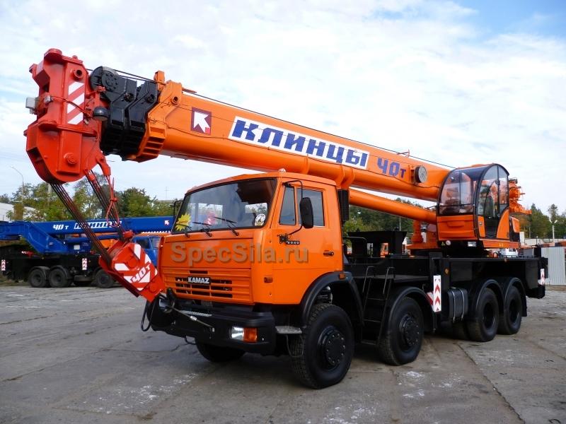 Аренда автокрана Клинцы 40 тонн 31+9 метров