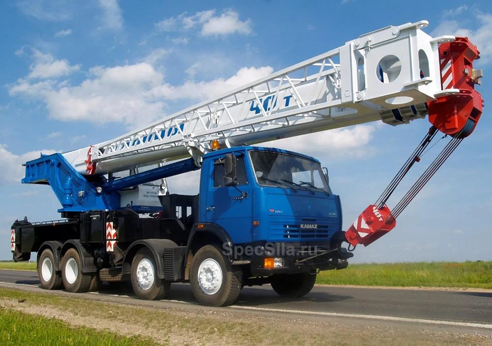 Аренда автокрана Клинцы 40 тонн 34+9 метров
